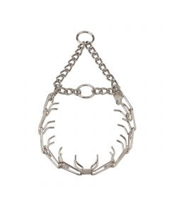 ULTRA-PLUS Training Collar with Center-Plate and Assembly Chain - Steel nickel-plated