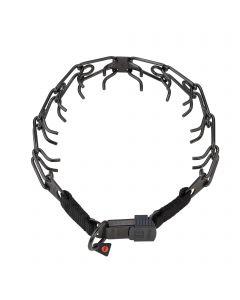 ULTRA-PLUS Dressurhalskette mit Centerplatte und ClicLock - Edelstahl Rostfrei schwarz