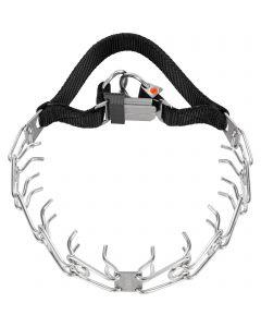 ULTRA-PLUS Dressurhalskette mit Centerplatte und Handschlaufe, 3,2 mm, 54 cm