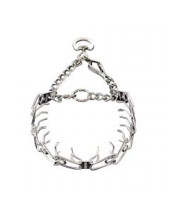 ULTRA-PLUS Training Collar with Center-Plate and Assembly Chain - Steel chrome-plated