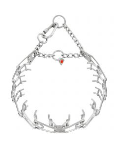 ULTRA-PLUS Training Collar with Center-Plate and Assembly Chain - Stainless steel matt