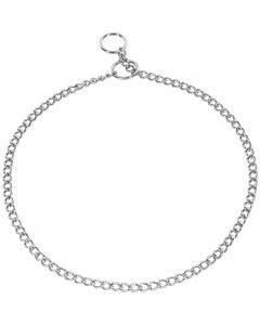 Halskette, runde Glieder - Stahl verchromt, 1,35 mm