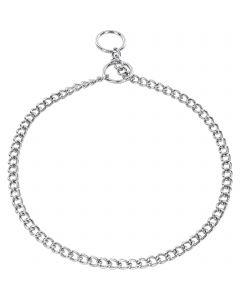 Halskette, runde Glieder - Stahl verchromt, 1,5 mm