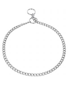Collar, round links - Steel chrome-plated, 1.5 mm