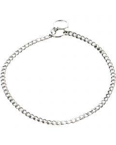 Halskette, flach geschliffene Glieder - Stahl verchromt, 1,5 mm