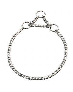Halskette mit Zugbegrenzung - Stahl verchromt, 1,5 mm