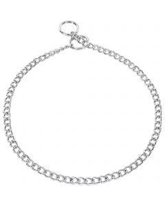 Halskette, runde Glieder - Stahl verchromt, 2,0 mm