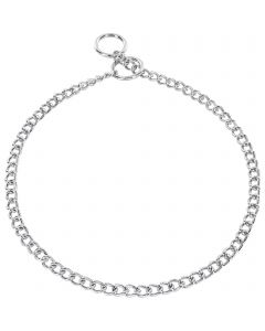 Collar, round links - Steel chrome-plated, 2.0 mm