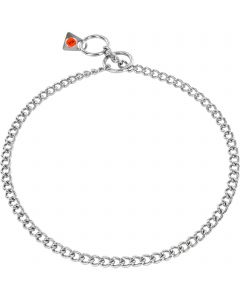 Collar, round links - Stainless steel, 2.0 mm