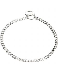 Collar, flat polished links - Steel chrome-plated, 2.0 mm