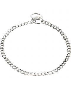 Halskette, flach geschliffene Glieder - Stahl verchromt, 2,0 mm