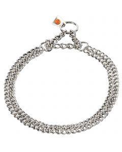 Halskette, 2-reihig, flach geschliffene Glieder - Edelstahl Rostfrei, 2,0 mm