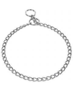 Halskette, runde Glieder - Stahl verchromt, 2,5 mm