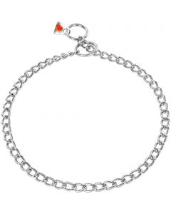 Collar, round links - Stainless steel, 2.5 mm