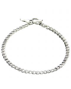 Halskette mit Knebelverschluss, runde Glieder - Stahl verchromt, 2,5 mm