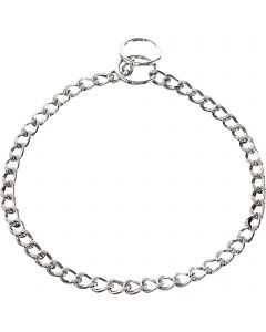 Collar, flat polished links - Steel chrome-plated, 2.5 mm