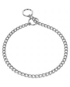 Halskette, runde, enge Glieder - Stahl verchromt, 3,0 mm