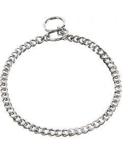 Collar, flat polished, narrow links - Steel chrome-plated, 3.0 mm