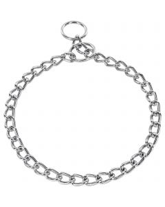 Halskette, runde Glieder - Stahl verchromt, 3,0 mm