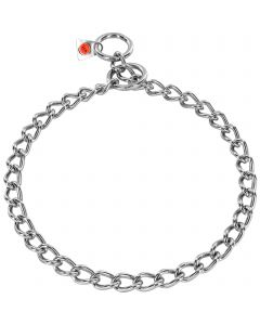 Collar, round links - Stainless steel, 3.0 mm