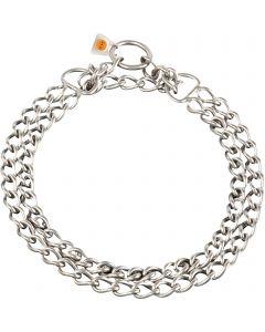 Halskette, 2-reihig - Edelstahl Rostfrei matt, 3,0 mm