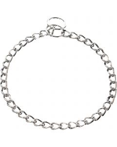 Collar, flat polished links - Steel chrome-plated, 3.0 mm