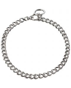 Collar, flat polished, narrow links - Steel chrome-plated, 4.0 mm