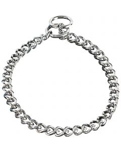 Collar, round, narrow links - Steel chrome-plated, 4.0 mm
