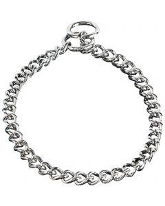 Halskette, runde, enge Glieder - Stahl verchromt, 4,0 mm