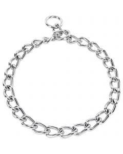 Halskette, runde Glieder - Stahl verchromt, 5,0 mm