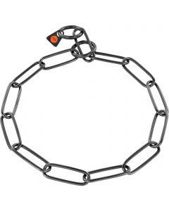 Collar, long links - Stainless steel black, 3.0 mm