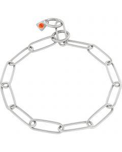 Collar, long links - Stainless steel matt, 3.0 mm