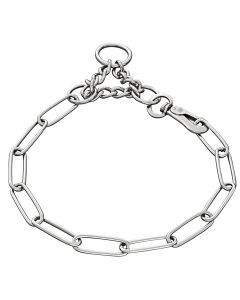 Collar, adjustable - with SPRENGER hook, Stainless steel, 3.0 mm