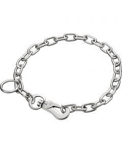 Halskette, verstellbar - mit SPRENGER-Haken - Stahl verchromt