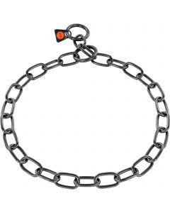 Collar, medium - Stainless steel black, 3.0 mm