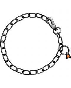Halskette, verstellbar - mit SPRENGER-Haken - 3,0 mm Edelstahl Rostfrei schwarz