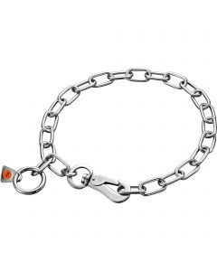 Collar, adjustable - with SPRENGER hook - Stainless steel