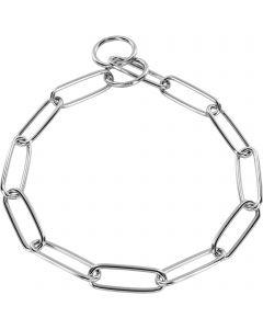Halskette, langgliedrig - Stahl verchromt, 3,4 mm