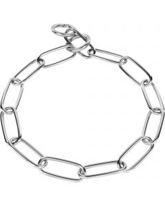Halskette, langgliedrig - Stahl verchromt, 4,0 mm