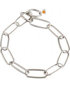 Collar, long links - Stainless steel matt, 4.0 mm