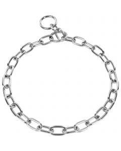 Halskette, medium - Stahl verchromt, 3,4 mm