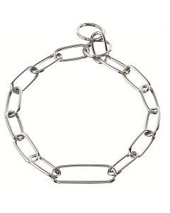 Halskette, extra langes Mittelglied - Stahl verchromt, 4,0 mm