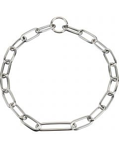 Collar, with extra long middle link - Steel chrome-plated, 4.0 mm