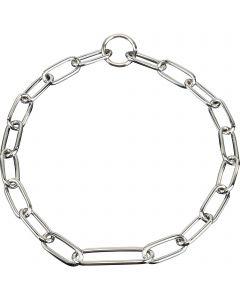 Halskette, mit extra langem Mittelglied - Stahl verchromt, 4,0 mm