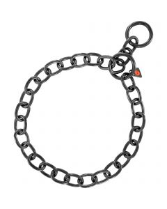 Collar, extra strong - Stainless steel black, 4.0 mm