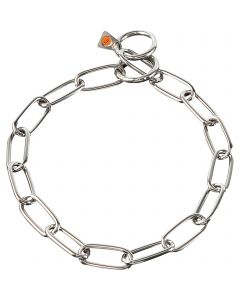 Collar, long links - Stainless steel, 4.0 mm