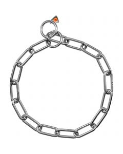 Collar, long links - Stainless steel, 5.0 mm