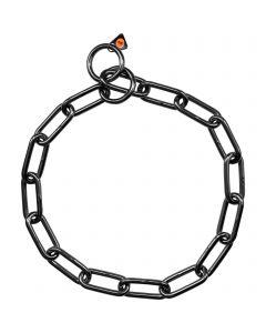 Collar, long links - Stainless steel black, 5.0 mm
