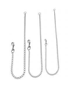 """Chain Leashes - Steel chrome-plated, 2.0 mm, 80 cm / 31"""""""
