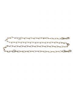 "Halter-Chain - Steel nickel-plated, 3.4 mm / 98"""
